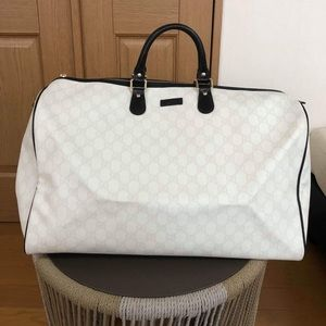 Gucci Bags - GUCCI BOSTON DUFFLE BAG WHITE VGUC